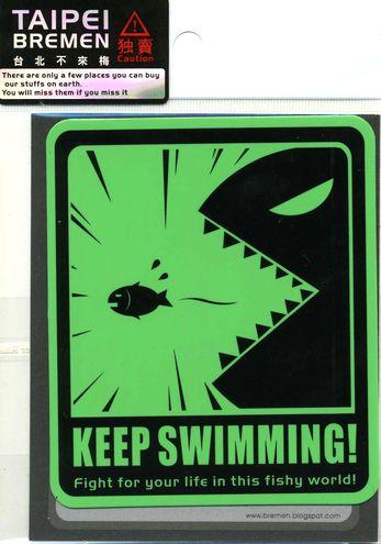 MICKEYMAN ステッカー KEEP SWIMMING! 泳ぎ続るんだ!【メール便OK】