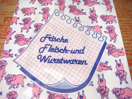ドイツのお肉屋さん用 ぶたさん 紙袋 マルシェ袋 5枚又は10枚セット【メール便OK】