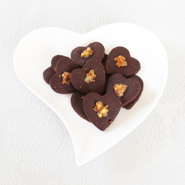 【お急ぎギフト】Cookie Bag ; Dark-choco Orange(10個入)