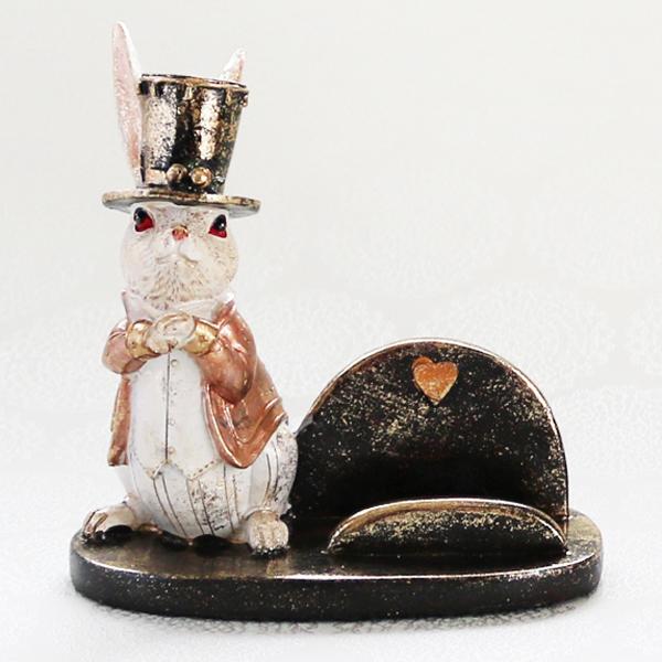 【お急ぎギフト】Wonder Rabbit ; Hatter (紅茶&スマホスタンド)