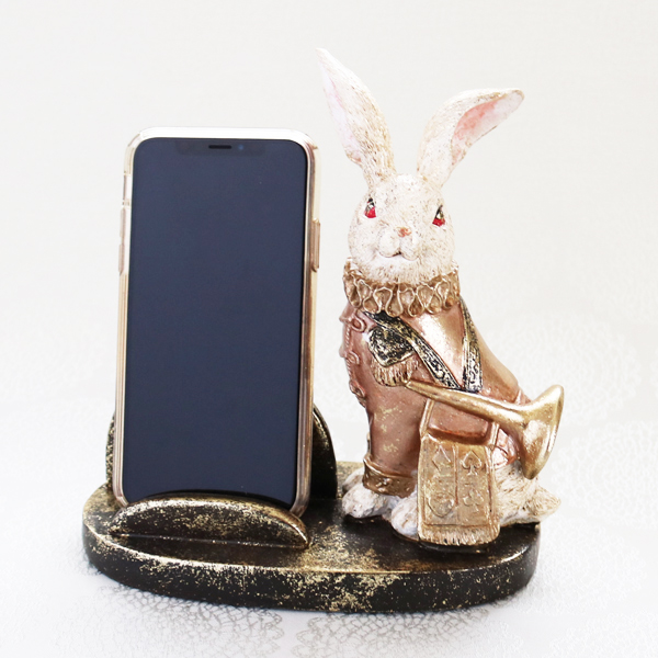 【お急ぎギフト】Wonder Rabbit ; Trumpeter (紅茶&スマホスタンド)