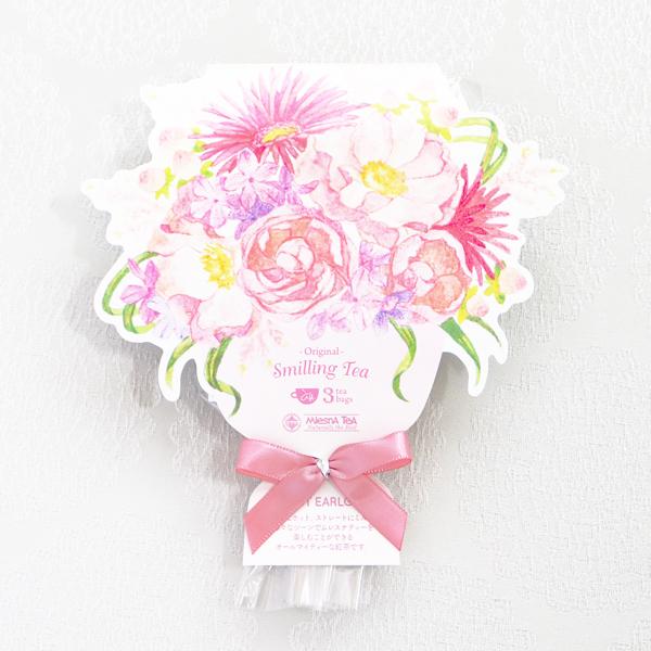 【お急ぎギフト】A Little Present ; Cookie pink (クッキー3袋15個&紅茶3bags入)