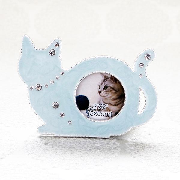 【お急ぎギフト】Twinkle Cat ; Blue (紅茶&フォトフレーム)