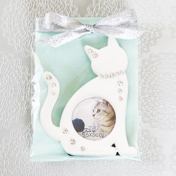 【お急ぎギフト】Twinkle Cat ; White (紅茶&フォトフレーム)