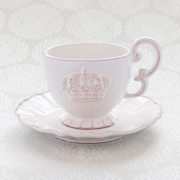 It's always tea-time ; Crown set(クッキー10個・紅茶4 bags入/カップ&ソーサー2客SET)