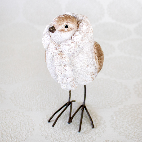 【お急ぎギフト】Winter Forest ; Bird(オブジェ&紅茶)
