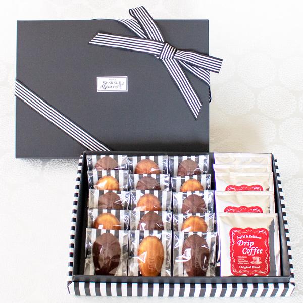 Greeting Box ; Financier Elegant(フィナンシェ15個 &ドリップコーヒー5個入)