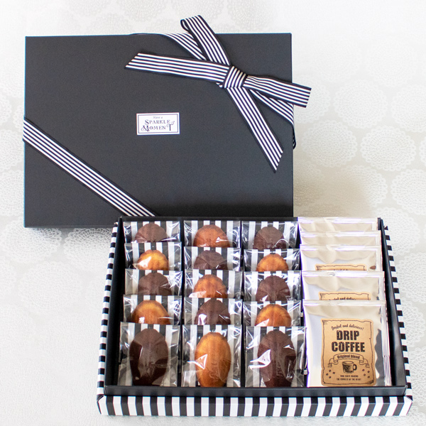 Greeting Box ; Financier Casual(フィナンシェ15個 &ドリップコーヒー5個入)