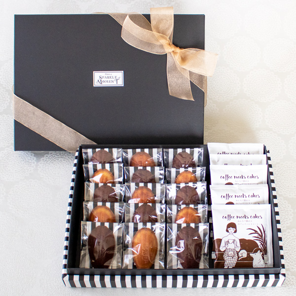 Greeting Box ; Financier Decafe(フィナンシェ15個 &カフェインレスコーヒー5個入)