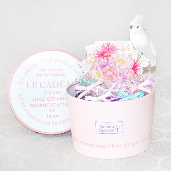 Happy Pastel ; Financier Pink(フィナンシェ8個・紅茶・オブジェ)