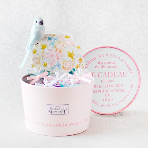 Happy Pastel ; Financier Blue(フィナンシェ8個・紅茶・オブジェ)