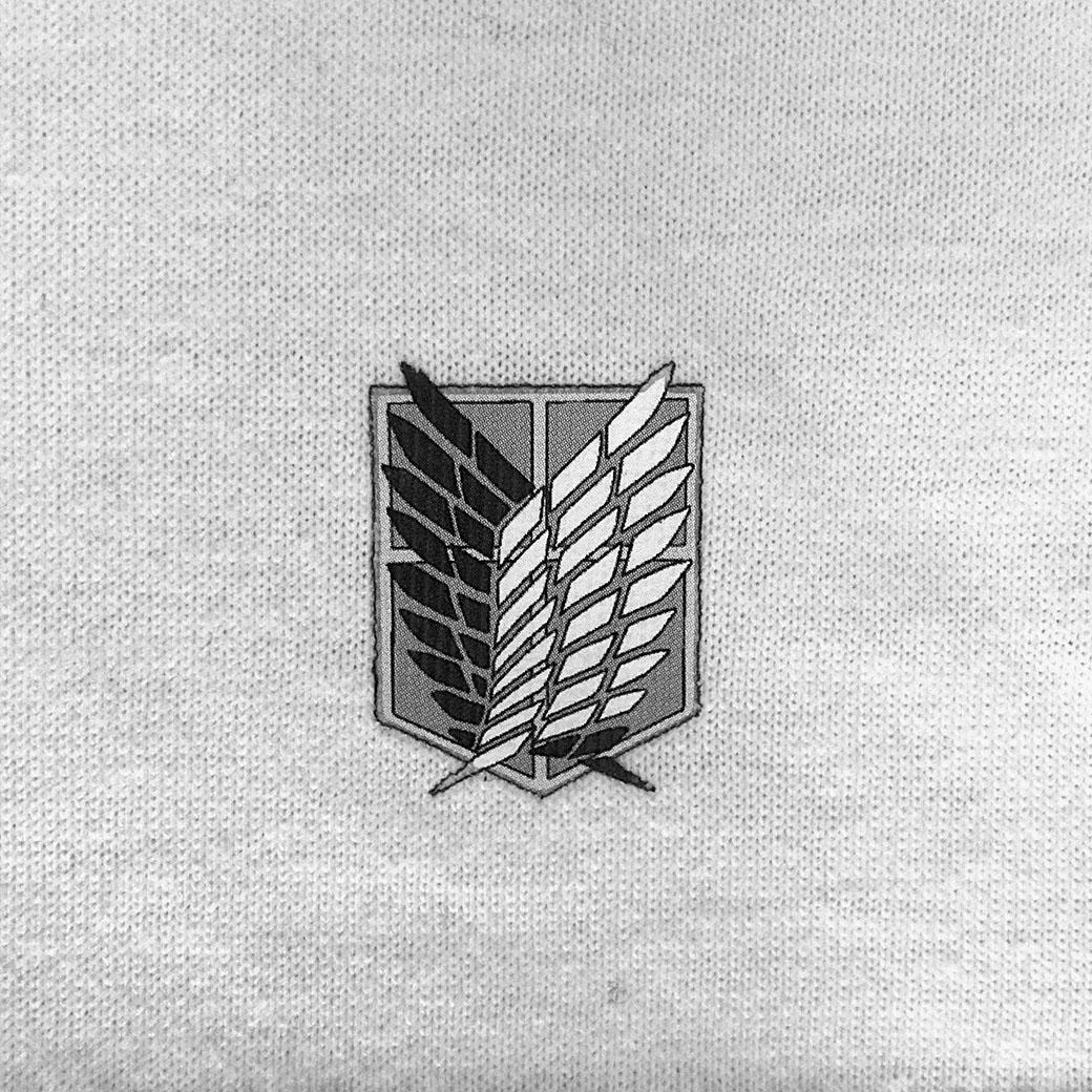 《GAViC×進撃の巨人》 ボックスロゴTシャツ 進撃の巨人 (GA4341-WHT)
