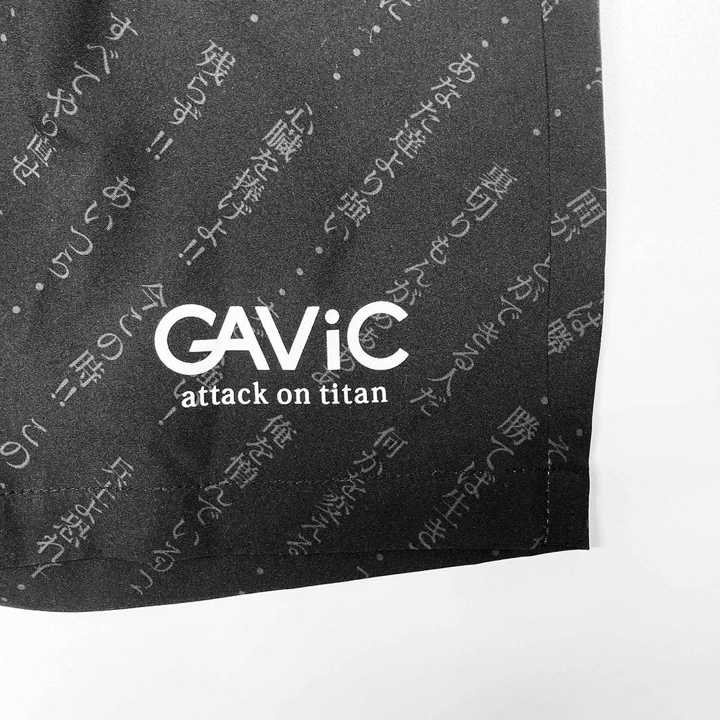 《GAViC×進撃の巨人》 トレーニングショートパンツ 進撃の巨人 (GA4503-BLK)