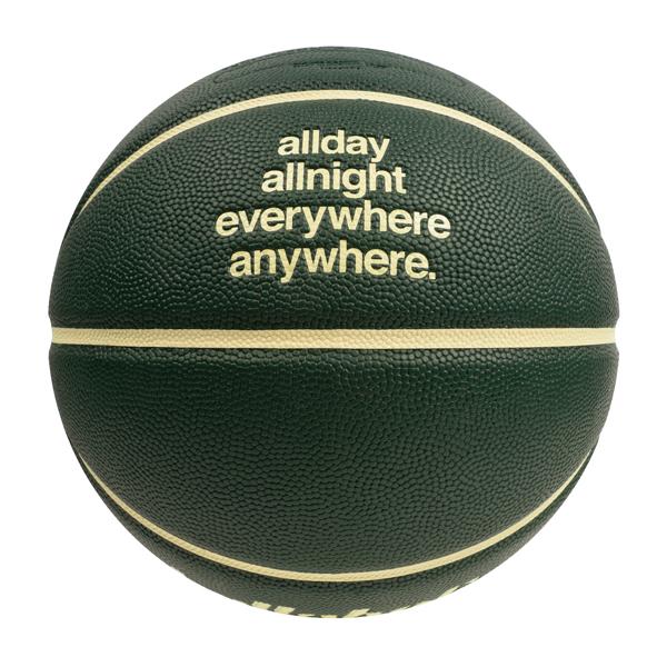 ballaholic × TACHIKARA/ボーラホリック × タチカラ Playground Basketball 7号(dark green/ivory) (BHBAC-00469-DGI)