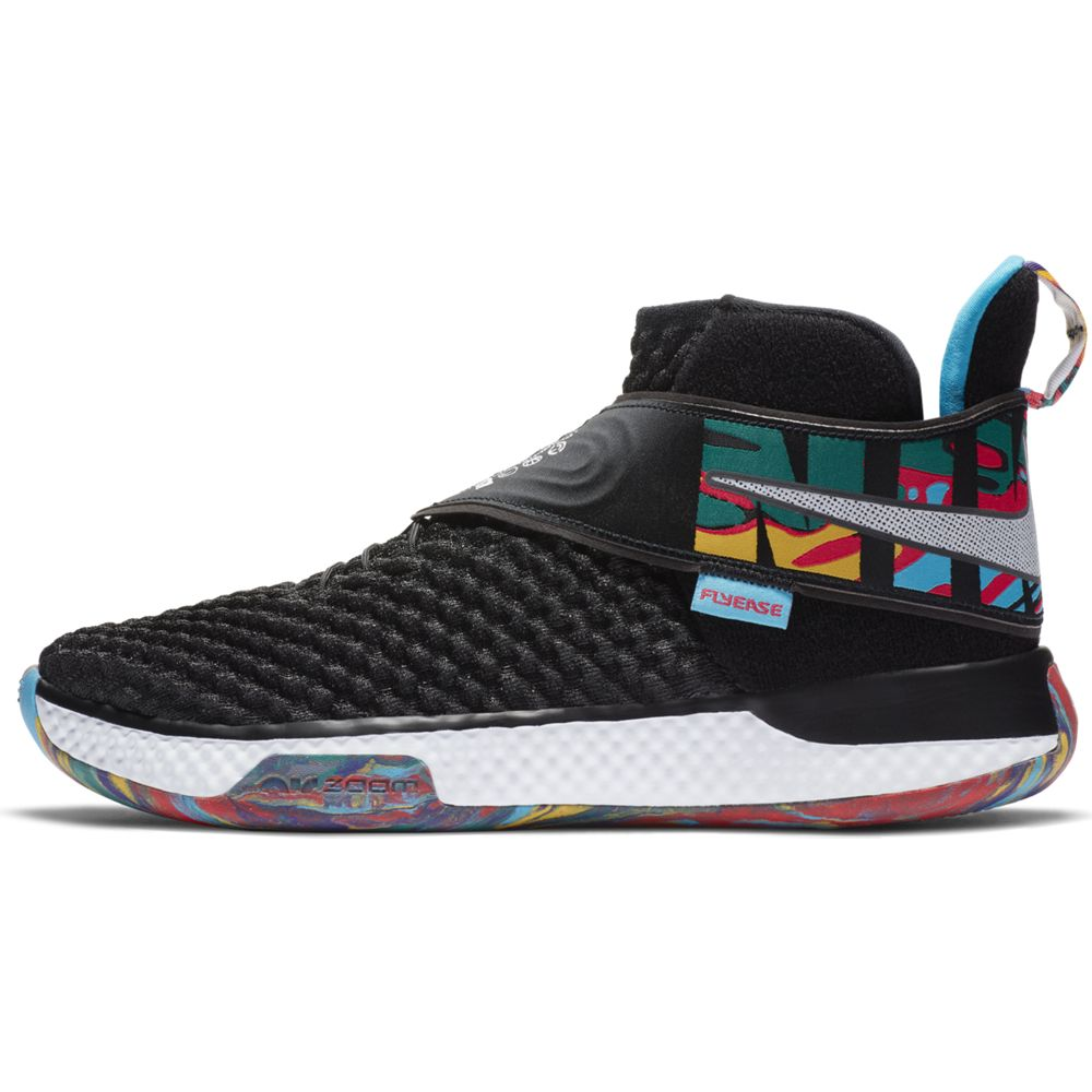 NIKE ナイキ Air Zoom UNVRS FlyEase バスケットボールシューズ CQ6422-001(BLACK/WHITE-BLACK-CURRENT BLUE) 20SS