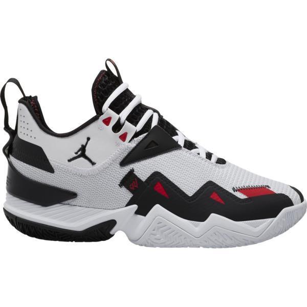 ジョーダン ウェストブルック ワン テイク PF バスケットボールシューズ CJ0781-101(ホワイト/ユニバーシティレッド/ブラック) 20FA