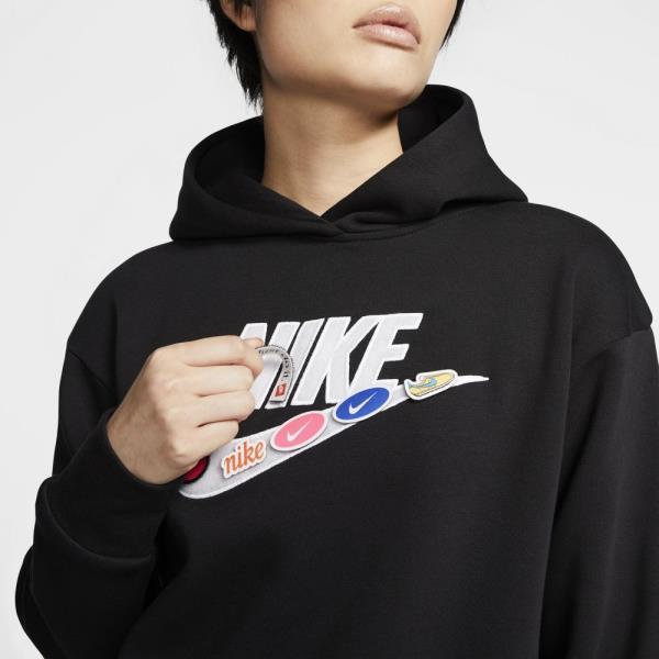 ナイキ NIKE WSアイコンクラッシュフリースフーディ ウイメンズスウェットシャツ CJ2035-010(ブラック)