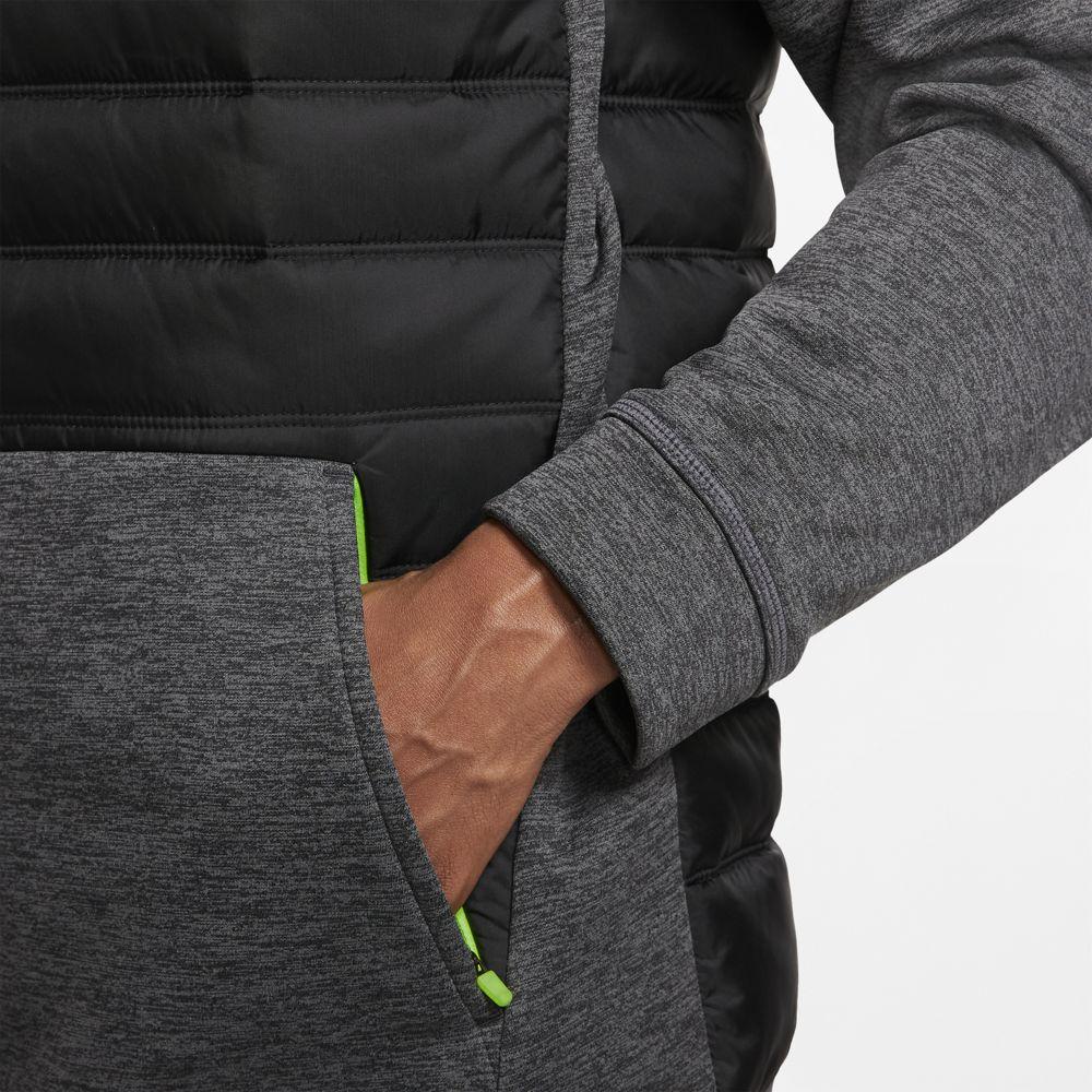 ナイキ NIKE メンズ  ナイキ サーマ  フルジップ トレーニングジャケット BV6299-032 ブラックヘザー/ブラック/ハバネロレッド 19HO