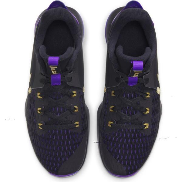 NIKE ナイキ レブロン ウィットネス V EP バスケットボールシューズ CQ9381-001(ブラック/メタリックゴールド/フィアスパープル) 20FOモデル!!