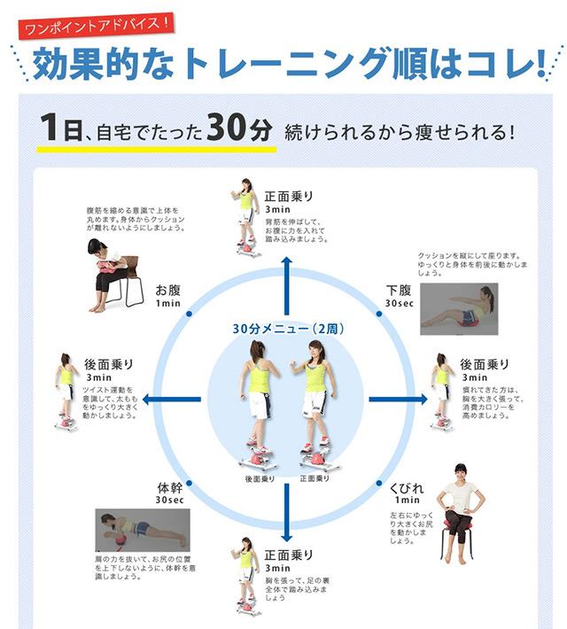 東急スポーツオアシスのホームサーキット セット (ながらクッション&ツイストステッパー)