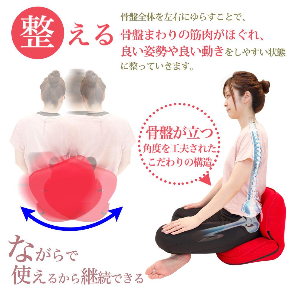 ながら骨盤チェアSmart (NH-200) 左右にゆらす 座椅子 体幹 ウエスト(骨盤エクササイズ)