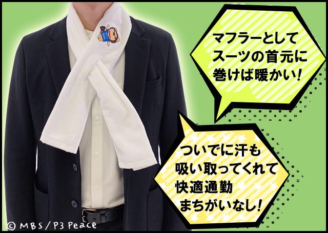 スポーツマフラータオル らいよんチャン キャラクター付 【送料無料】
