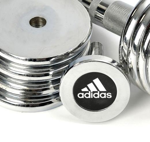 adidas (アディダス) 5kgクロームダンベルセット ADWT-10026