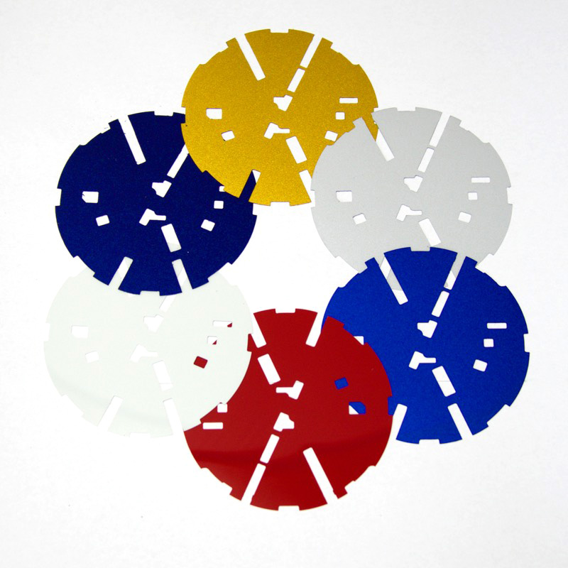 ゴルフ7.5 リアVW用「カラードプレート」