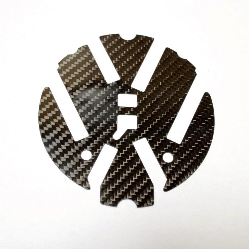 ゴルフ7 フロントVW用「カラードプレート」ドライカーボン