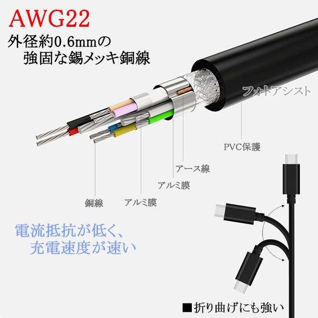 シリコンパワー対応 (USB Type-C ) A-タイプC 1.0m USB 3.1 Gen1 56Kレジスタ使用 送料無料【メール便の場合】
