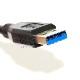 USB3.1 Gen1 (USB3.0) 高品質延長ケーブル 1.0m (タイプAオス - タイプAメス)  スーパースピードUSB 最大転送速度5Gbps 送料無料【メール便の場合】