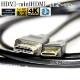 HDMI ケーブル HDMI (Aタイプ)-ミニHDMI端子(Cタイプ) カシオ機種対応  1.4規格対応 3.0m ・金メッキ端子 (イーサネット対応・Type-C・mini)  送料無料【メール便の場合】