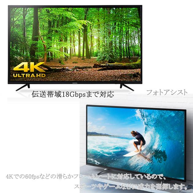 HDMI延長ケーブル  2.0規格   0.5m   A(オス)-A(メス)   金メッキ端子 (イーサネット対応・Type-A) 18 Gbps 4K@50/60 (2160p) に対応 3D・4K 送料無料【メール便の場合】