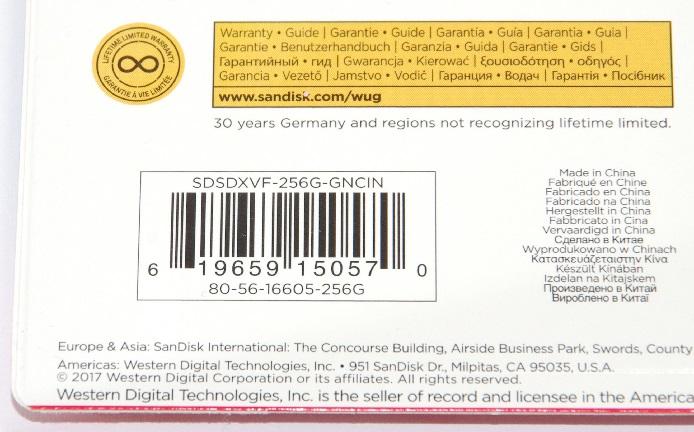 SanDisk サンディスク SDXCカード Extreme 256GB 海外パッケージ版 Class10 UHS-I U3 V30 90MB/s 4K対応 (SDカード・メモリーカード) 送料無料