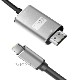 USB Type-C用HDMI変換ケーブル 1.8m  4K 60Hz Thunderbolt3対応 USB Type CからHDMI  送料無料【メール便の場合】