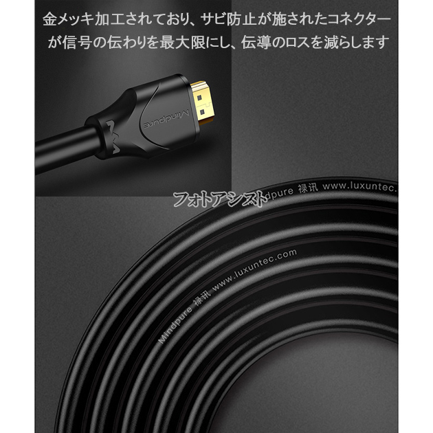 【互換品】SHARP シャープ対応  HDMI ケーブル 高品質互換品 TypeA-A  2.0規格  3.0m  Part 2  18Gbps 4K@50/60対応  送料無料【メール便の場合】