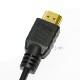 HDMI ケーブル HDMI - micro ニコン機種対応 1.4規格対応 2.0m ・金メッキ端子 (イーサネット対応・Type-D・マイクロ)  送料無料【メール便の場合】