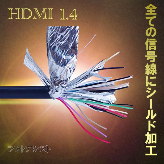 HDMI ケーブル HDMI - micro ニコン機種対応 1.4規格対応 3.0m ・金メッキ端子 (イーサネット対応・Type-D・マイクロ)  送料無料【メール便の場合】