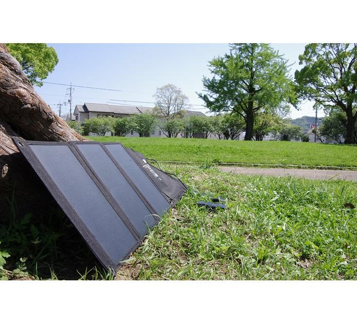 折りたたみ式太陽光充電パネル 21W (ソーラー発電) スマホ,アイフォン,タブレットなどの充電に【防災グッズ・キャンプ】
