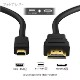 HDMI ケーブル HDMI - micro リコー・ペンタックス機種対応 HC-1互換品  1.4規格対応 3.0m ・金メッキ端子 (イーサネット対応・Type-D・マイクロ)  送料無料【メール便の場合】