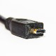 【互換品】GoPro対応 ゴープロ 高品質互換HDMI (Aタイプ)-microHDMI端子(Dタイプ) 1.4規格対応 3.0m ・金メッキ端子 送料無料【メール便の場合】