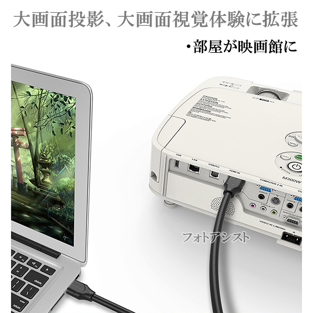 【互換品】FUNAI フナイ対応  HDMI ケーブル 高品質互換品 TypeA-A  2.0規格  2.0m  Part 1  18Gbps 4K@50/60対応  送料無料【メール便の場合】