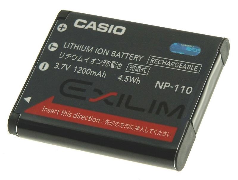 CASIO カシオ リチウムイオン充電池 NP-110 純正   送料無料【ゆうパケット】NP110カメラバッテリー