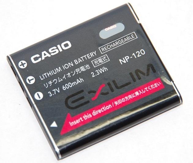 CASIO カシオ リチウムイオン充電池 NP-120 純正   送料無料【ゆうパケット】NP120カメラバッテリー