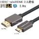 Panasonic パナソニック対応  HDMI ケーブル HDMI (Aタイプ)-ミニHDMI端子(Cタイプ) 2.0規格対応 2.0m  (イーサネット対応・Type-C・mini)