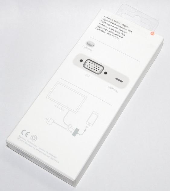 アップル純正 Apple Lightning - VGAアダプタ  MD825AM/A  国内純正品  iPhone/iPad/iPod対応 送料無料【ゆうパケット】