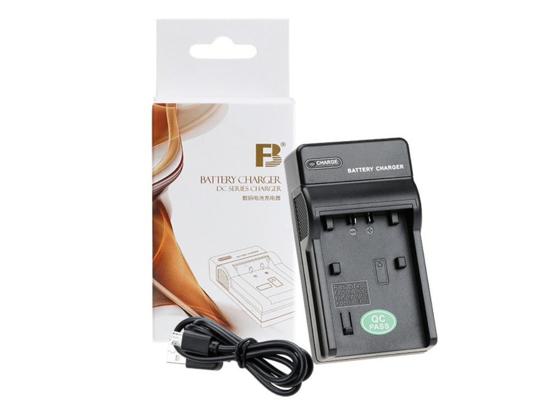 【互換品】 SONY  ソニー BC-TRV ・ BC-TRP 互換充電器 USB充電タイプ (NP-FV50/70/100  NP-FH50/70/100  NP-FP50/60/70/71/90/100 )バッテリー対応