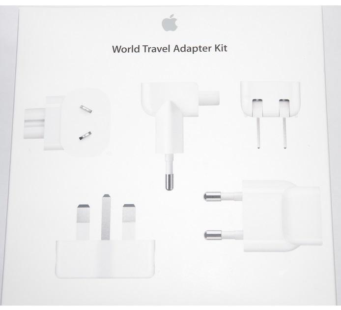 アップル純正  Appleワールドトラベルアダプタキット MD837AM/A  国内純正品