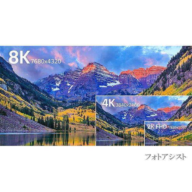 【互換品】Hisense対応  HDMI 2.1規格ケーブル 8K対応  HDMI A-A 1.0m  黒  UltraHD  48Gbps 8K@60Hz (4320p) 4K@120Hz対応 動的HDR