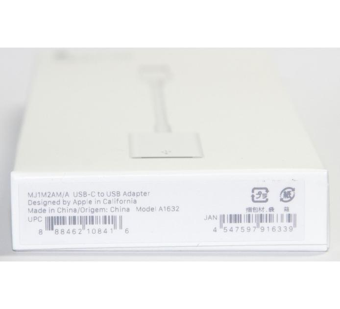 アップル純正 Apple USB-C - USBアダプタ  MJ1M2AM/A  国内純正品 送料無料【ゆうパケット】